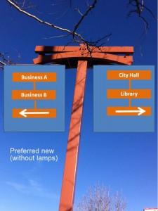 Proposed New Way Finder Signage Design.